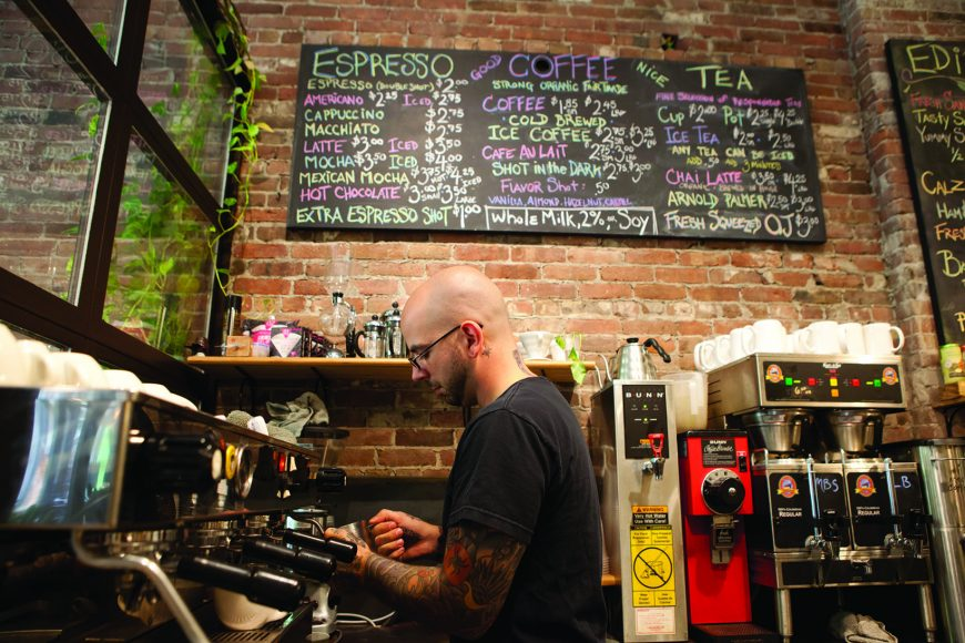 Small Point Cafe' on Westminster St in Providence, RI