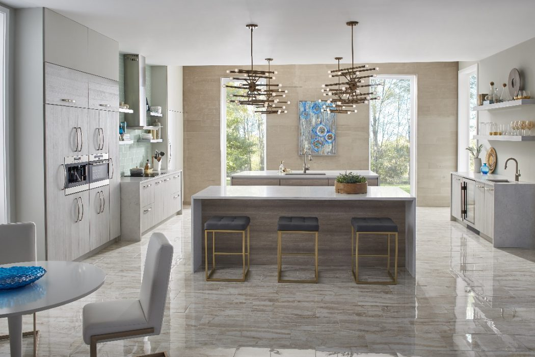 Contemporary Design May Call To Mind Images Of Sleek And Cold Interiors,  But This Airy American Modern Kitchen, By Plain U0026 Fancy Custom Cabinetry,  ...