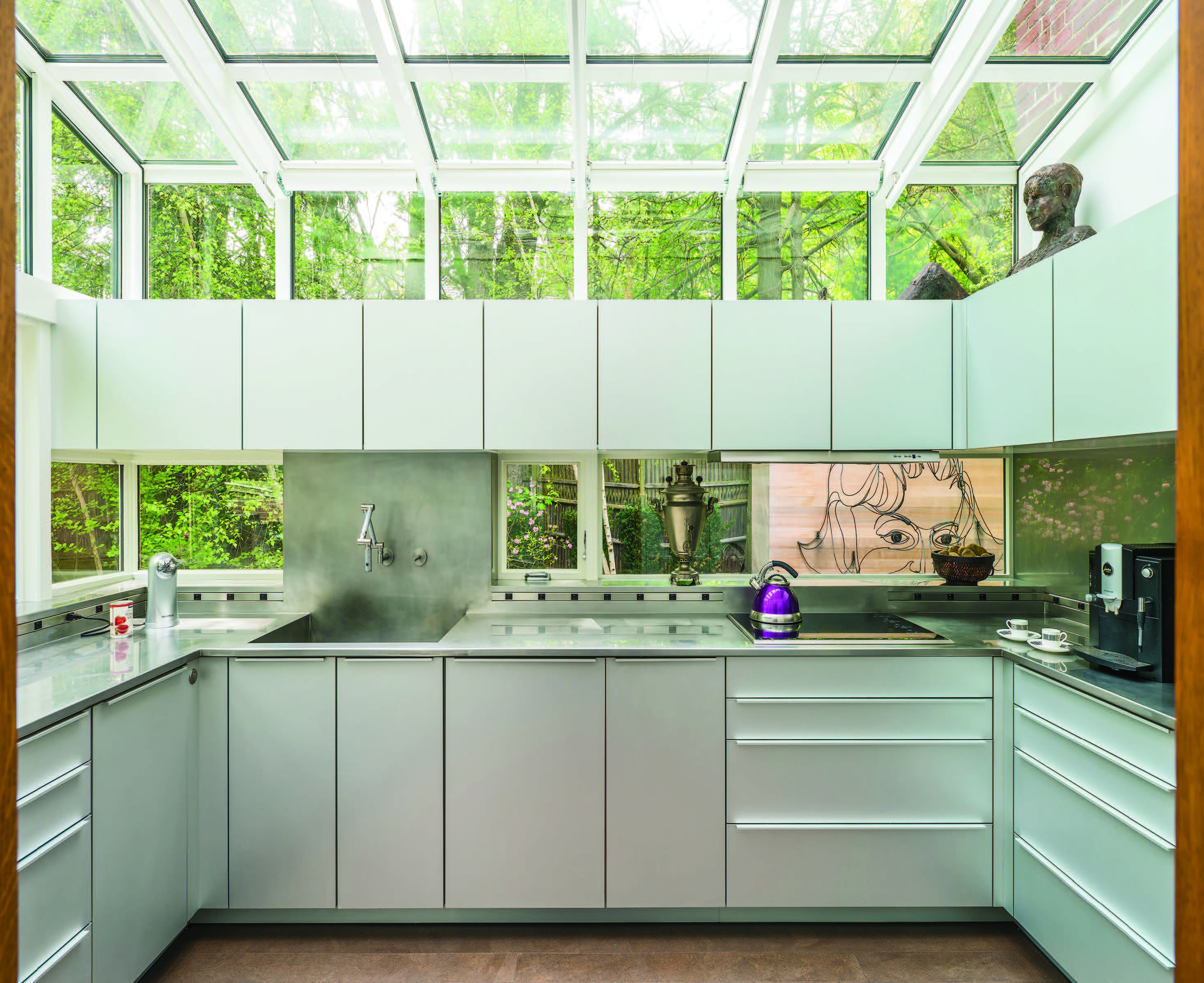 clarke s annual design contest winners contemporary kitchens resulted in a spectacular space that links the interior of the home with the beautiful natural exterior while maintaining a clean ergonomic kitchen
