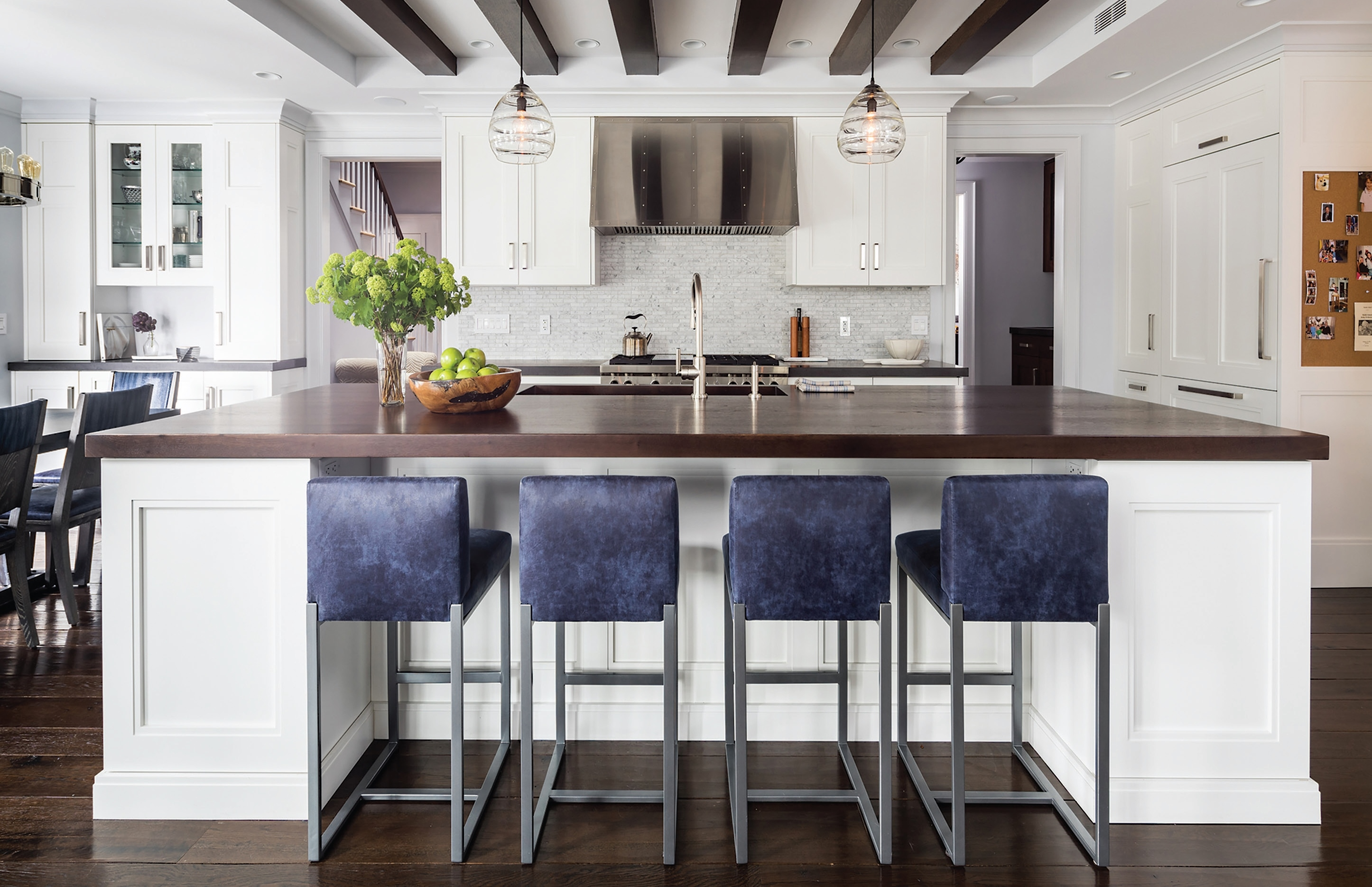 Clarkes Annual Design Contest Winners Transitional Kitchens New England Living