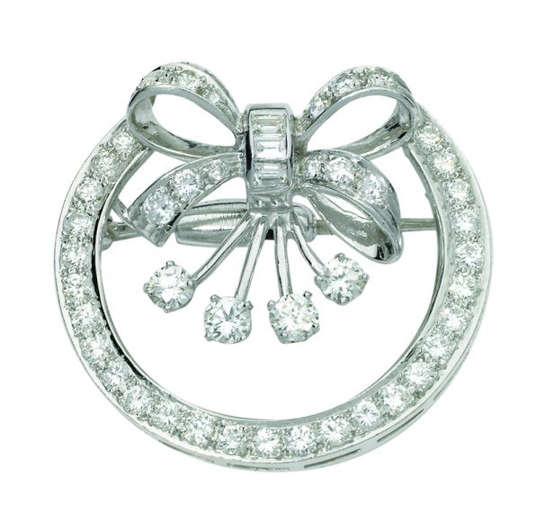 Place Diamond Brooch