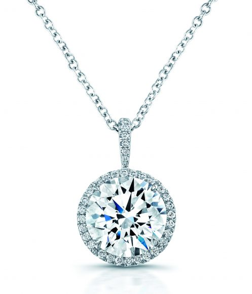 SCL Diamond Halo Necklace longer chain