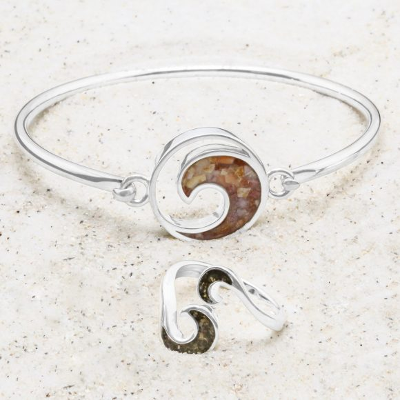 Dune Jewelry - Wave Bracelet - Bypass Ring