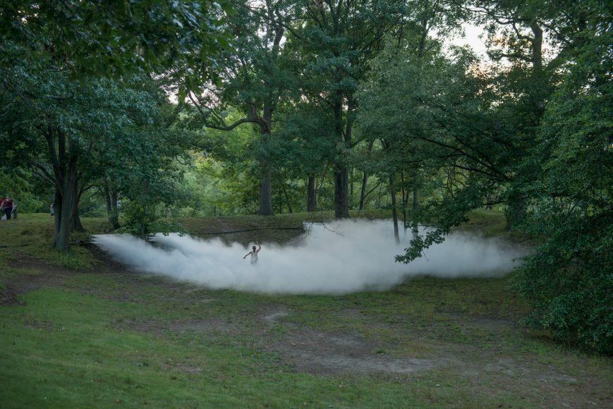 Jamaica Pond of _Fog x FLO's Fog x Pond_ by Melissa Ostrow 1