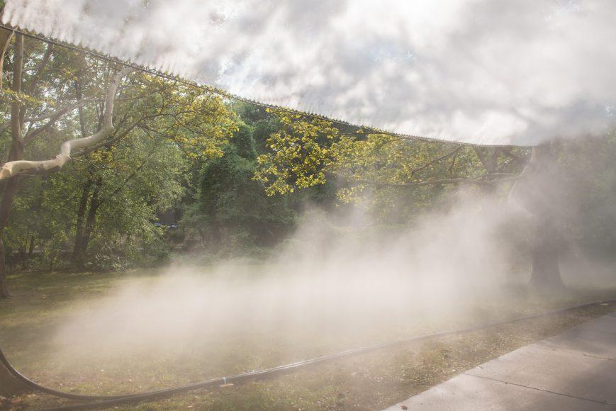 The Fens Fog Sculpture, _Fog x FLO's Fog x Canopy_ by Melissa Ostrow 10