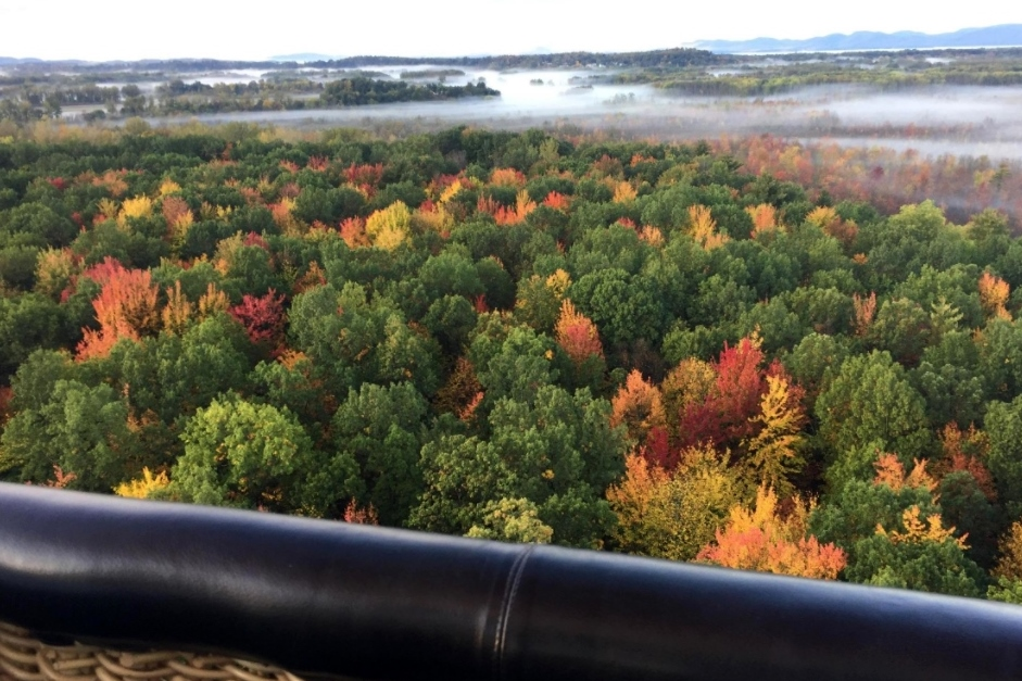 hot air balloon ride vermont