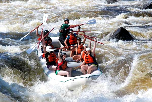 white water rafting in Maine